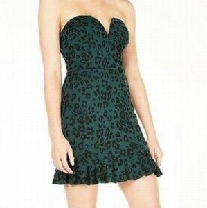 Trixie Green Leopard Mini Dress - Junior 9 or 13